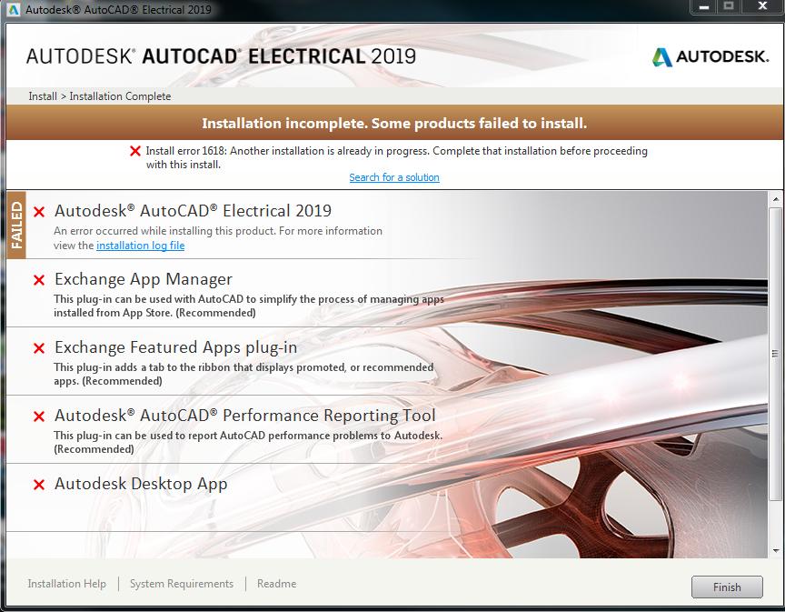 Solved: AutoCad Electrial 2019 Installation error - Autodesk