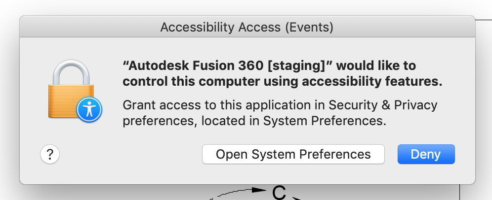 Note: Mojave accessibility notification and what you should do about