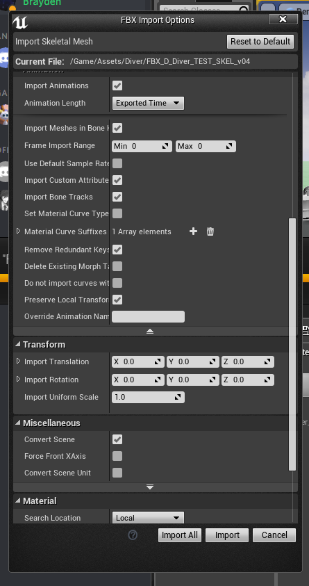 Solved: Maya FBX Export Problem - Skin Weight Definitions
