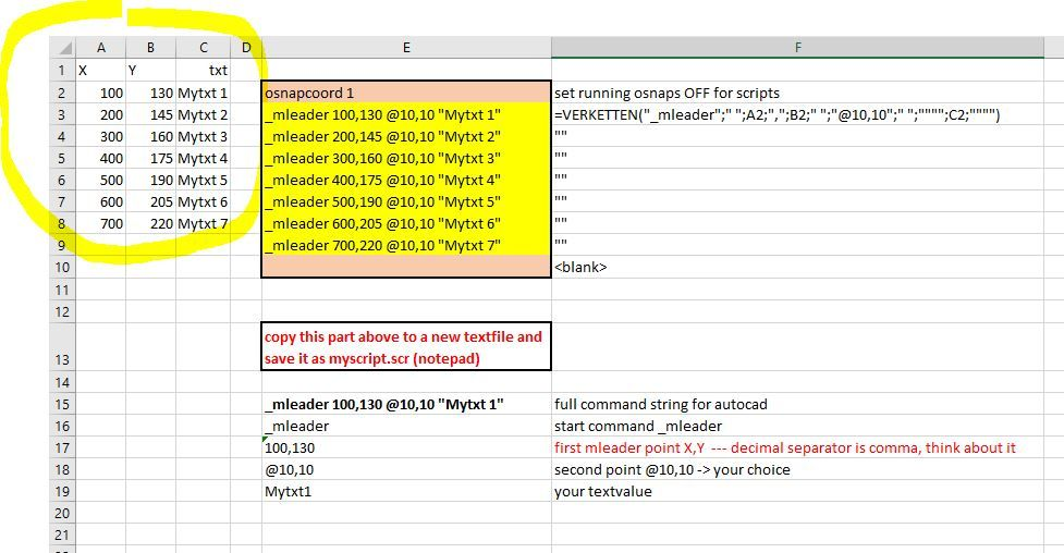 Solved: Insert text at coordinates from excel - Autodesk Community