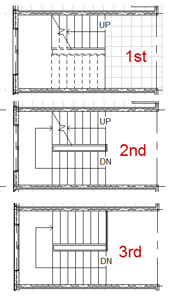 Solved stairs below level how do i add a cut line for House plans with two sets of stairs