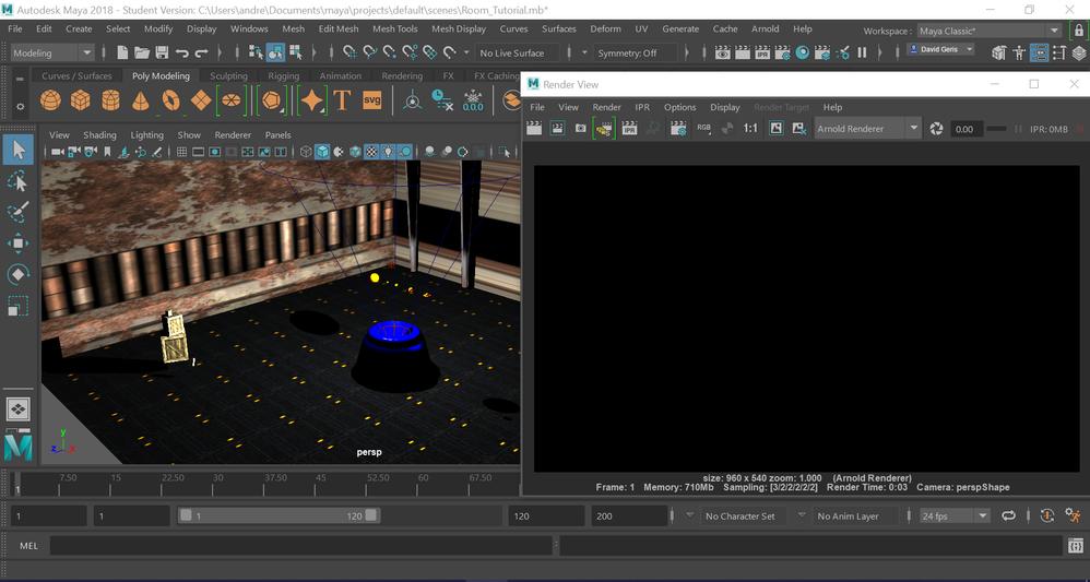 Arnold Rendering displays Black screen - Autodesk Community