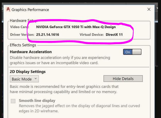 Intel/Nvidia GPU AutoCAD usage incorrect (2019) - Autodesk Community