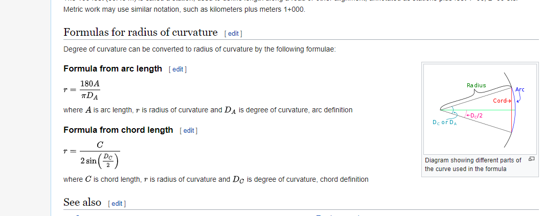 Solved: How to label the curve with its degree of curvature (Da