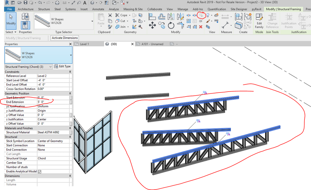 Prefab Roof Truss overhang issue - Autodesk Community- Revit Products