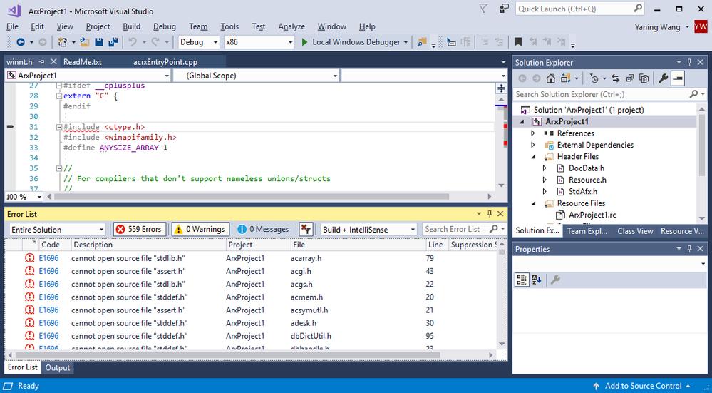 Solved: ObjectArx wizard project build problem - Autodesk