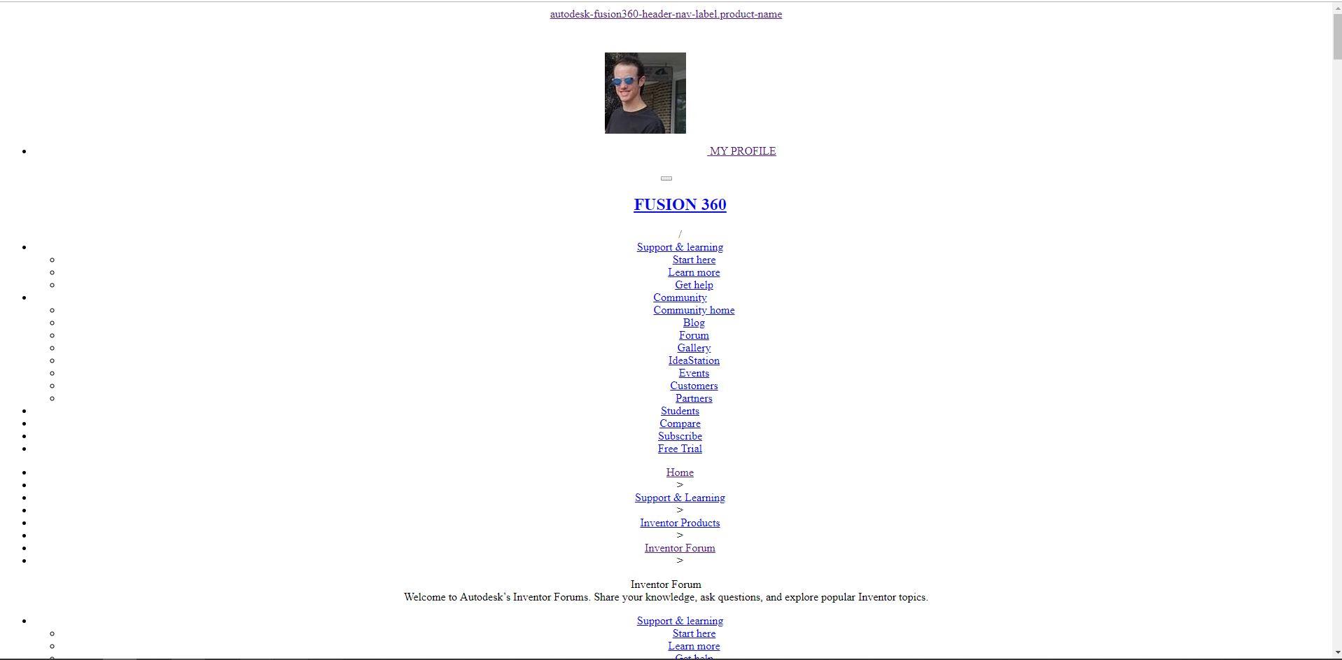 Autodesk Forum Website and Browser Display - Autodesk