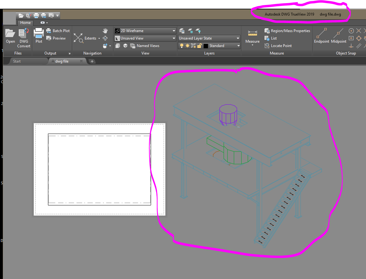 Solved: DWG Trueview 2019 not displaying Advance Steel Objects