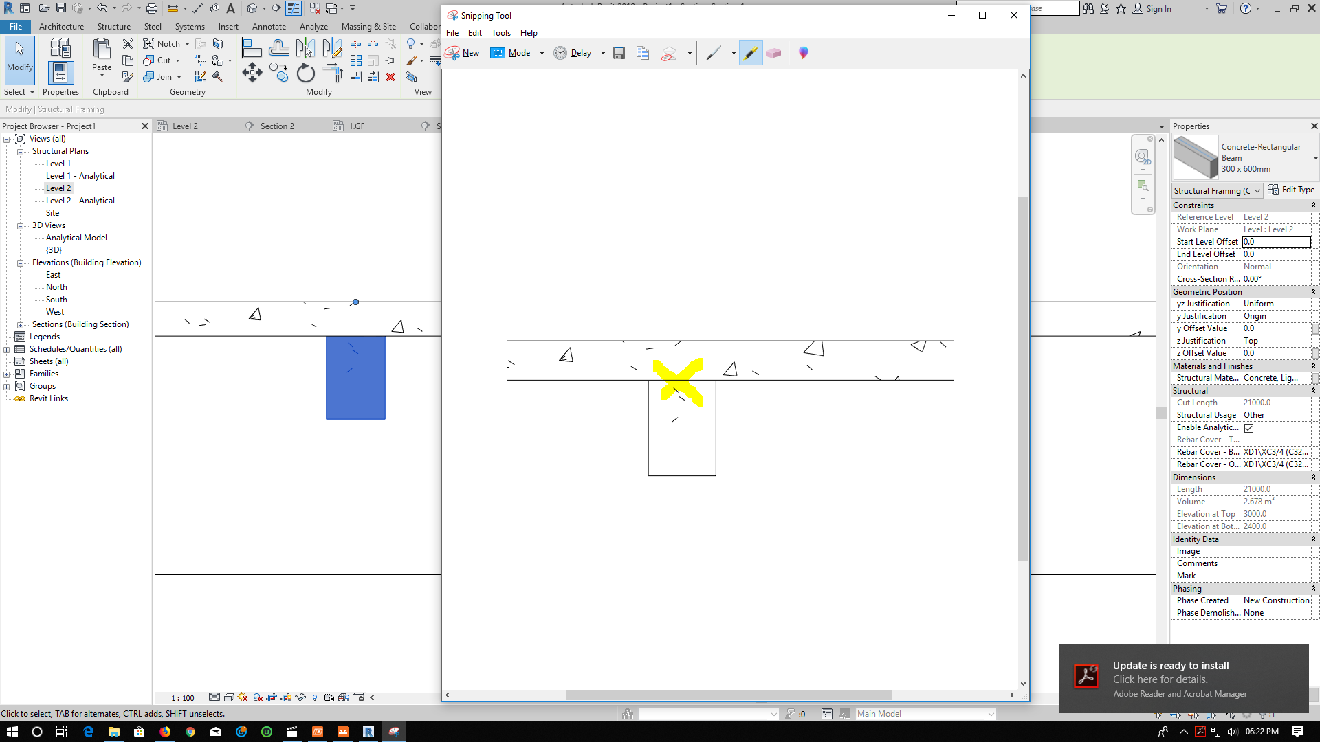 Solved: Beam not joining properly with slab - Autodesk