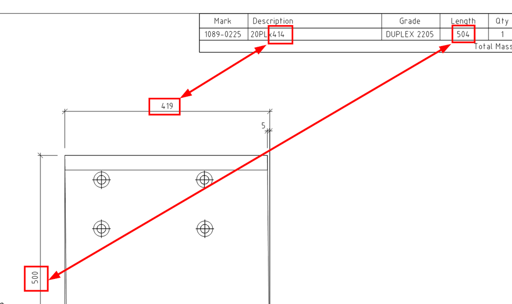 Plate Dimensions in BOM on Drawing - Autodesk Community
