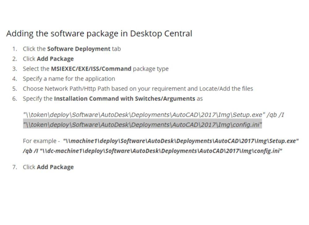Push silent install & Uninstall Autocad - Autodesk Community
