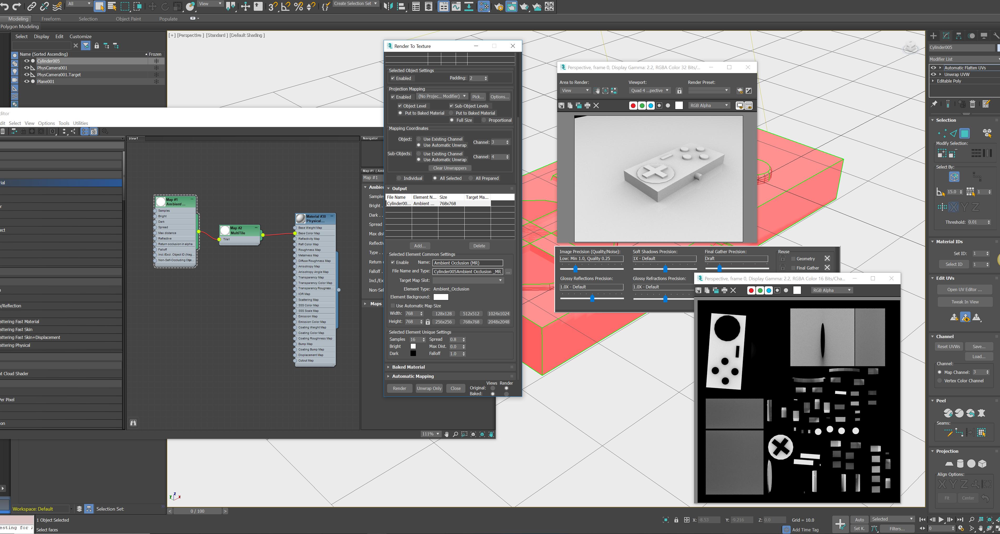 Render to Texture multi-tile UV / UDIM - max 2017 - Autodesk