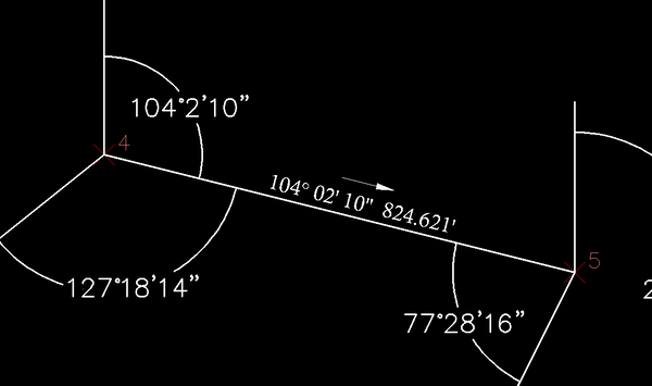 how to get azimuth in autocad