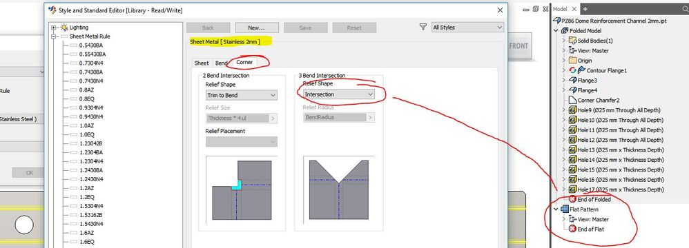 Inventor 2018 Sheet Metal Flat Pattern Is Invisible