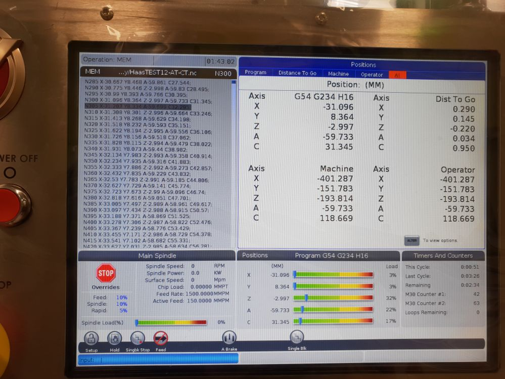 I'm having problems with 5 Axis Haas NGC post processor for