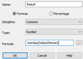 Solved: Round Up Calculated Total of Revit Schedule Cell