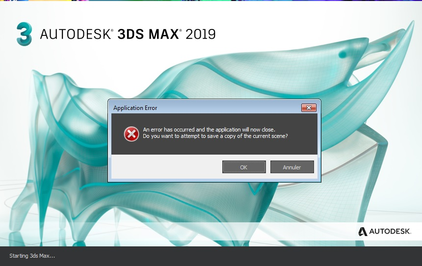Solved: After the update 2019 3 3ds max gives an error - Autodesk