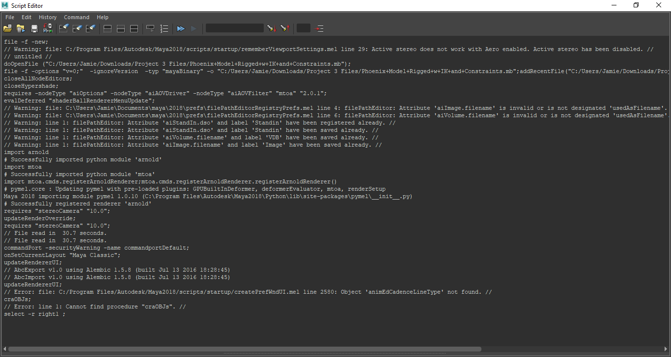 Maya 2018 Export OBJ Sequence Throwing Errors - Autodesk Community- Maya
