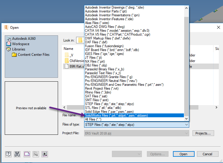 Solved: Importing SLDPRT file to inventor  ipt file - Autodesk