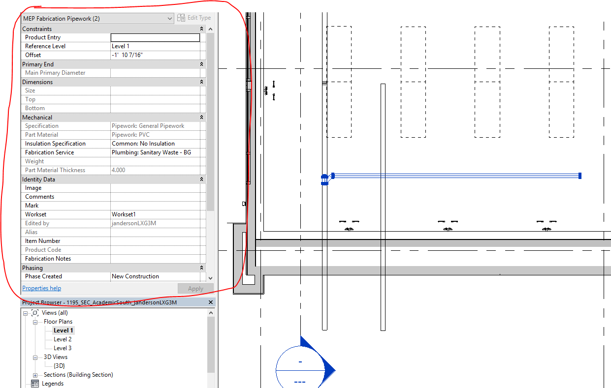 Solved: I cannot change slope on a connected fabrication pipe/part