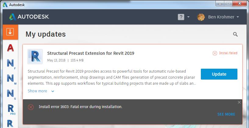 Update Won't Install - Fatal Error - Autodesk Community