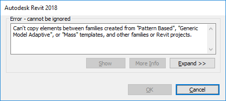 Fix Copy Paste Limitation Between Projects And Families Asap