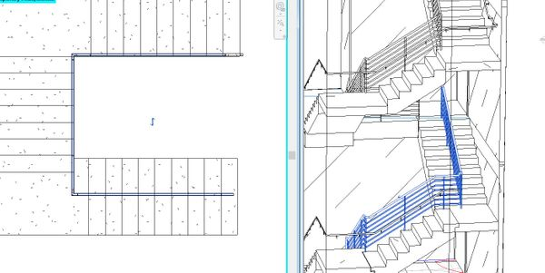 Solved: Sloped stair railing which suddendly becomes