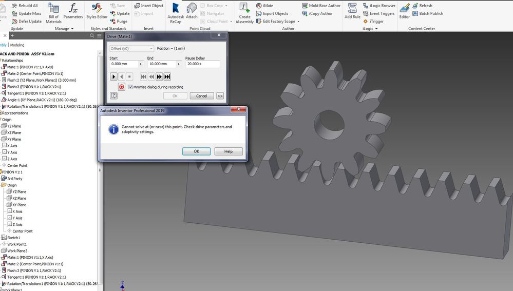 Solved: RACK AND PINION DESIGN - Autodesk Community- Inventor