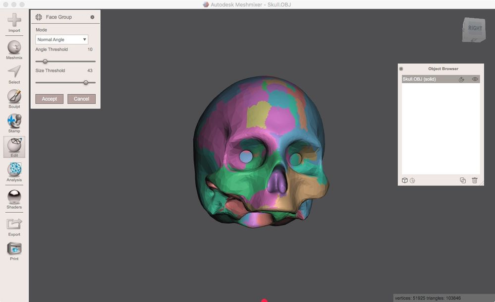 Solved: Inverting an entire mesh with meshlab/meshmixer