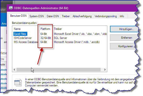 setup Dbconnect with ODBC in windows 10 - Autodesk Community
