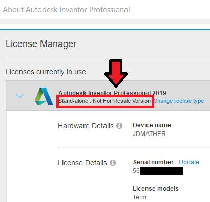 Inventor 2019 license