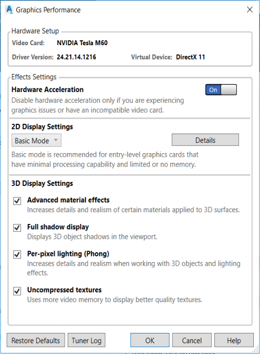 Very poor performance Plant 3D on Azure Quadro Virtual
