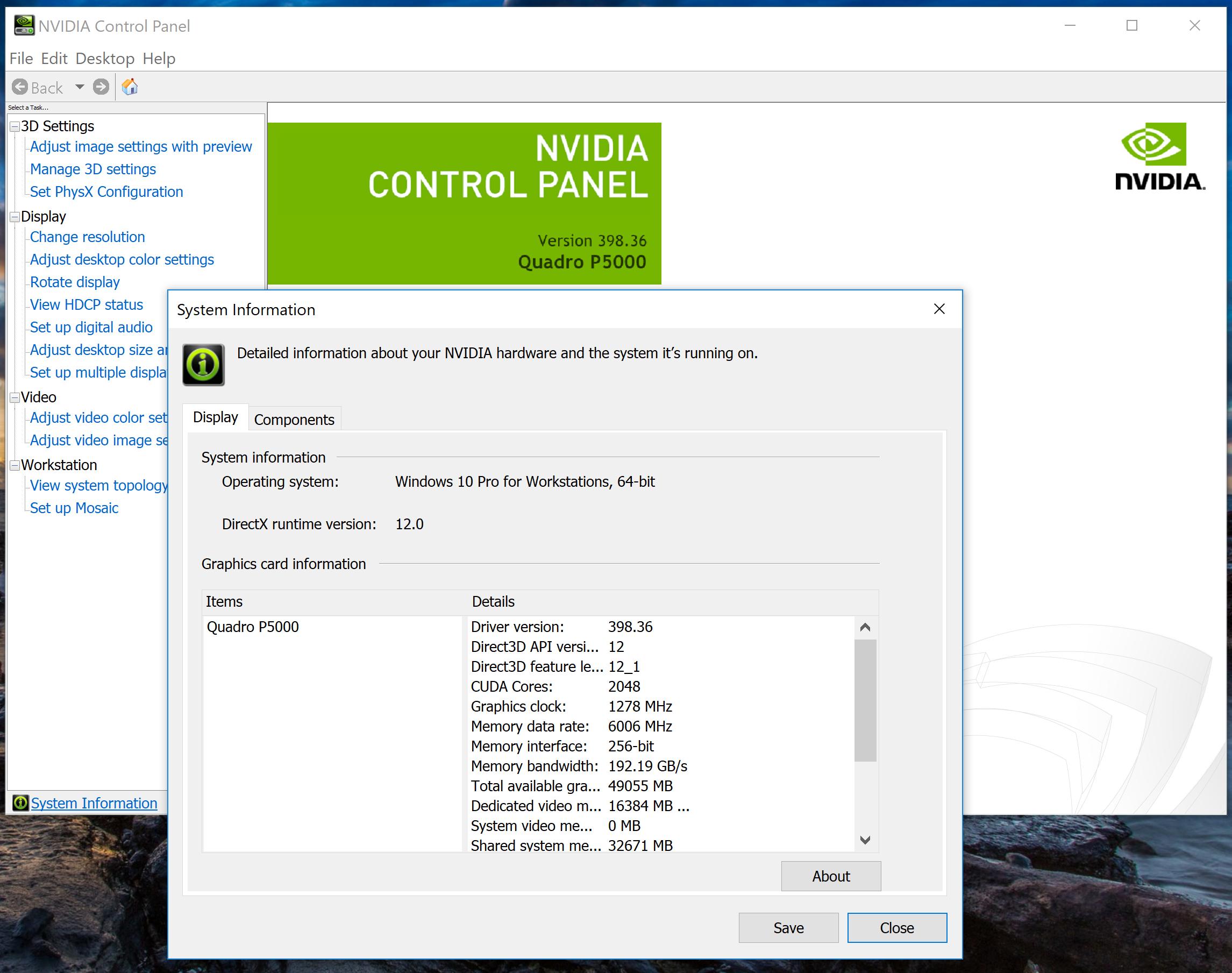 CAD, Nvidia P5000 & Windows - Autodesk Community- AutoCAD Map 3D