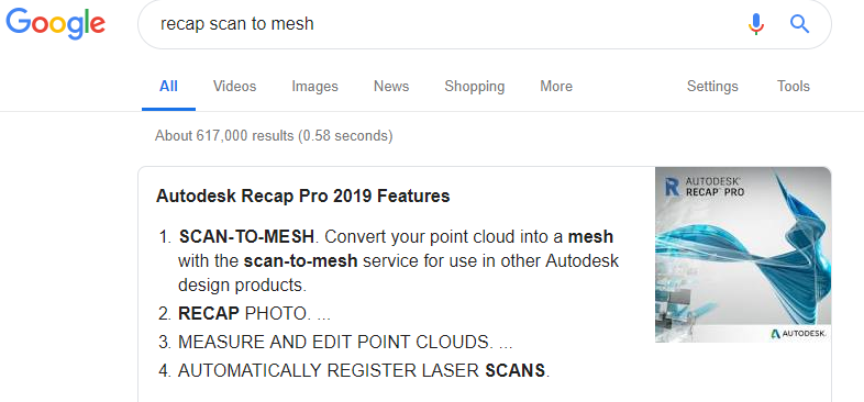 The scan to mesh removed from Recap Pro on 10 30  2018  When