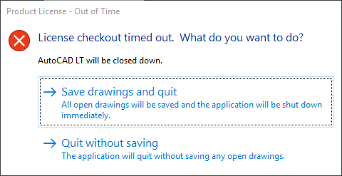 Error - License checkout timed out - Page 2 - Autodesk