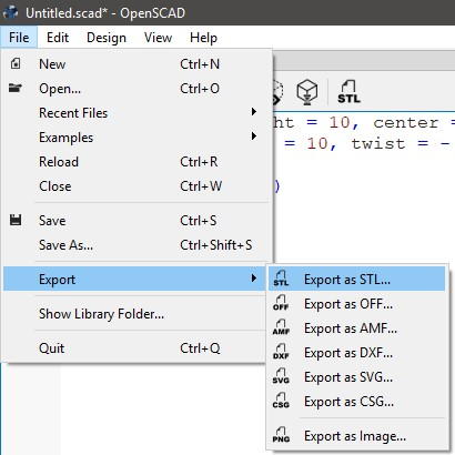 OpenSCAD Import/export - Autodesk Community