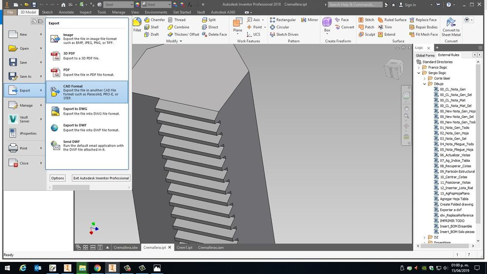 Solved: Export to  FBX and  OBJ from Autodesk Inventor - Autodesk