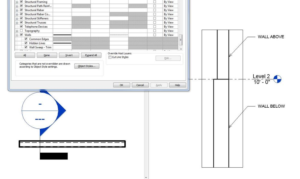Hidden Line style - Cut Wall override to Hidden - Autodesk Community