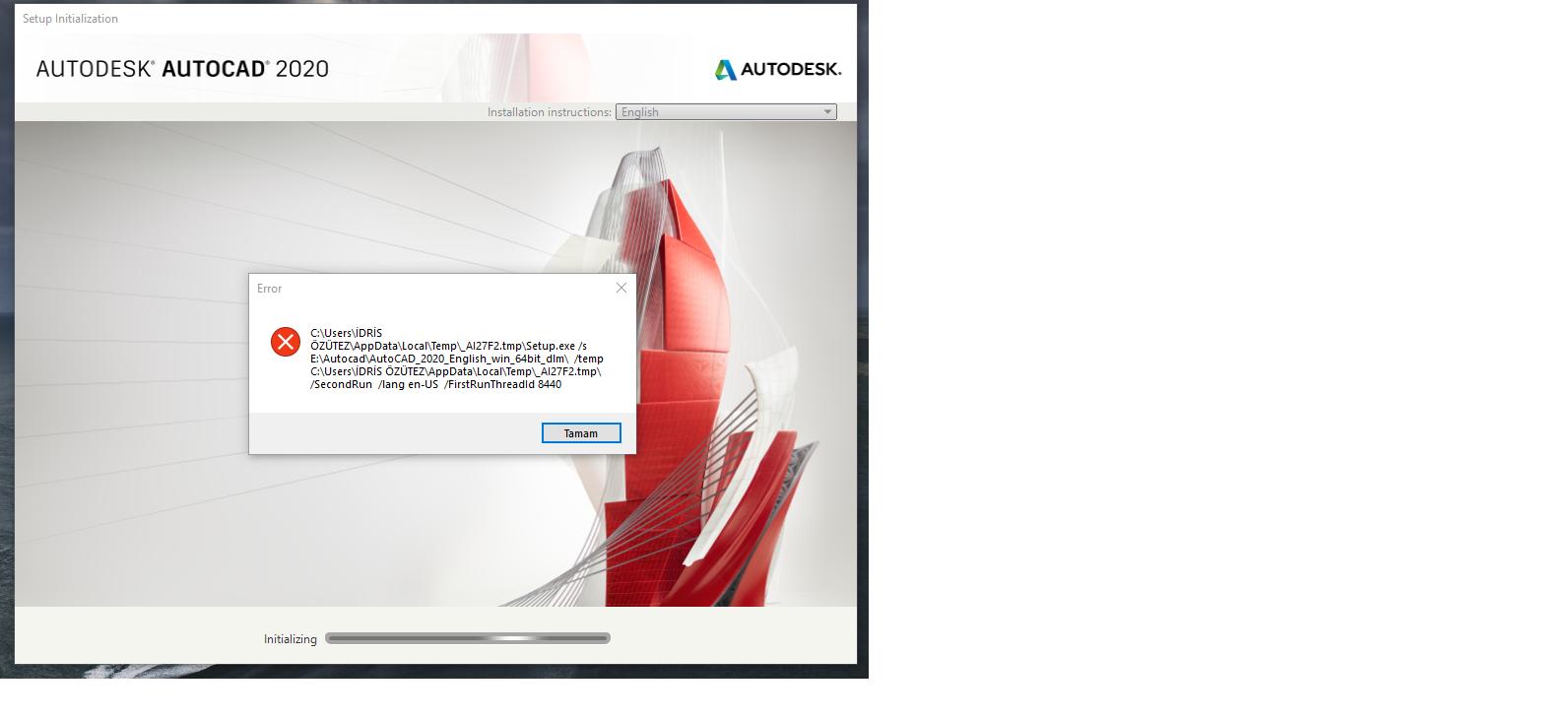 Autocad 2020 Error During Student Installation Help
