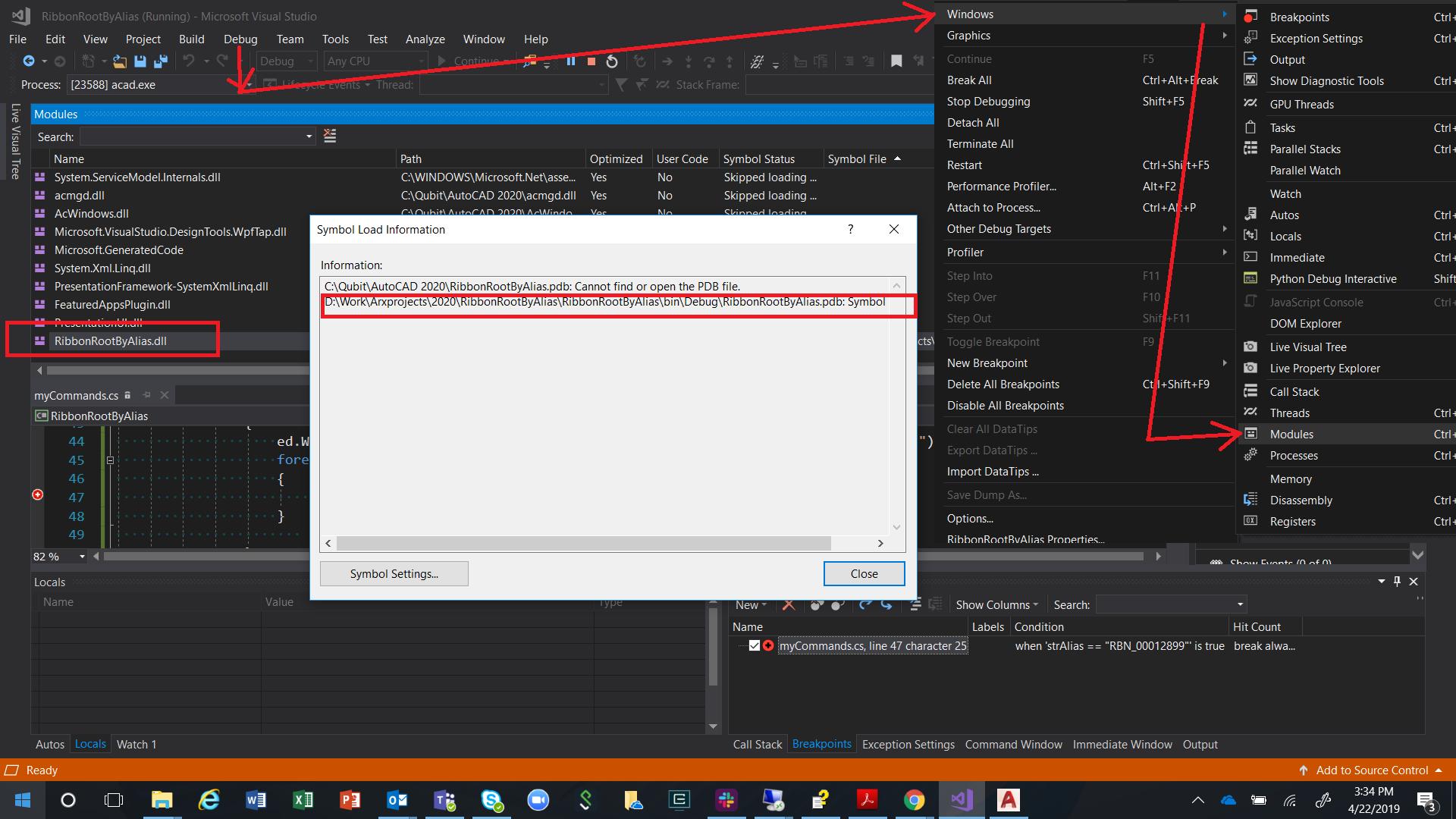 Solved: ObjectArx 2019 debugging problem - Autodesk Community- AutoCAD