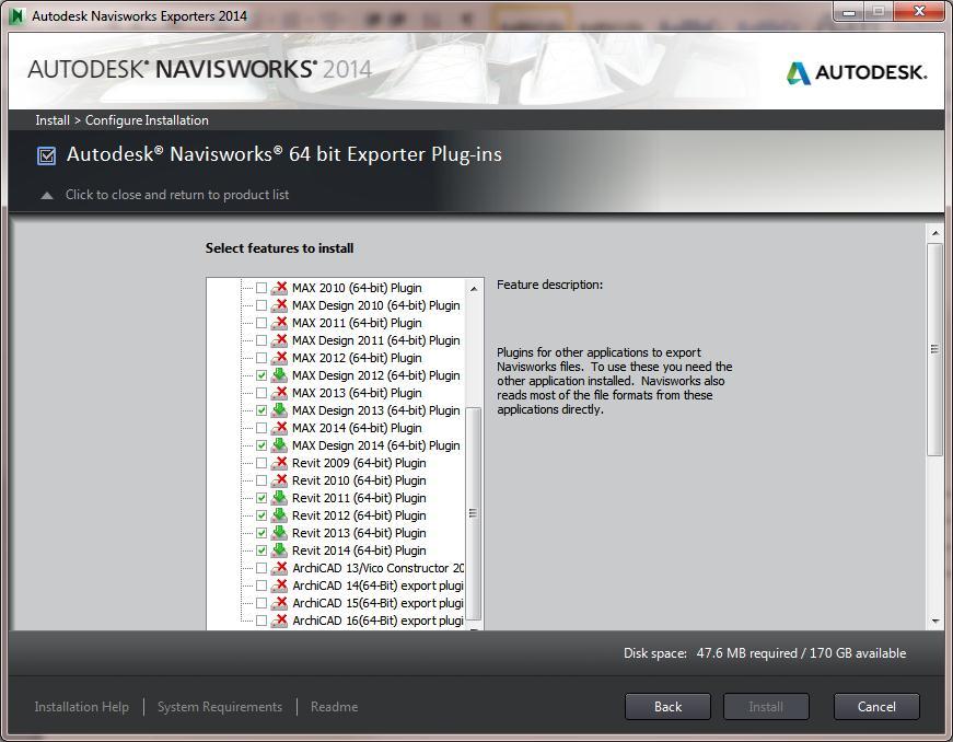 Solved: NavisWorks 2014 Exporters Deployment - Autodesk