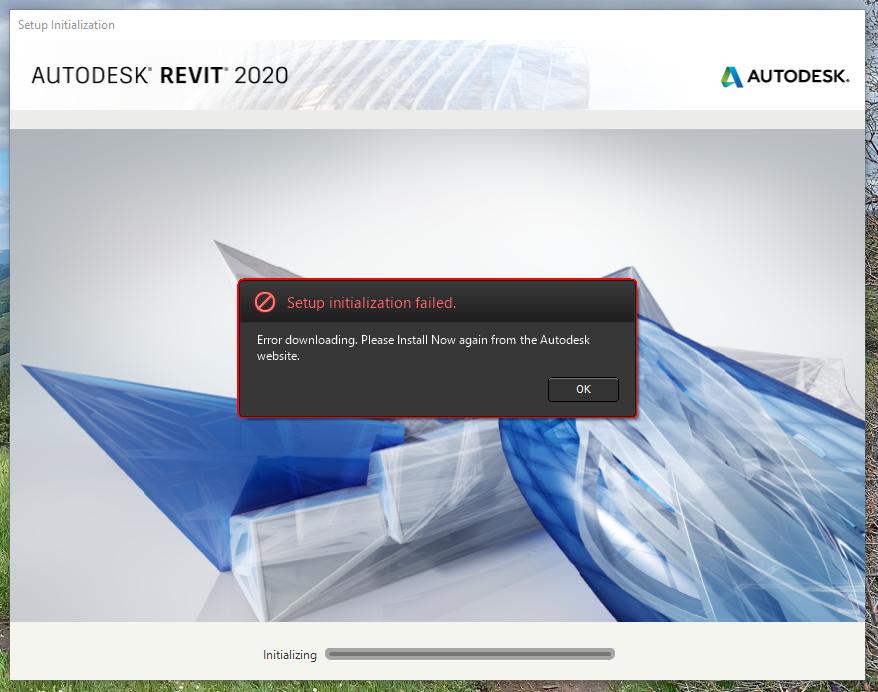 Solved: Revit 2020 Trial: Setup Initialization Failed  Error