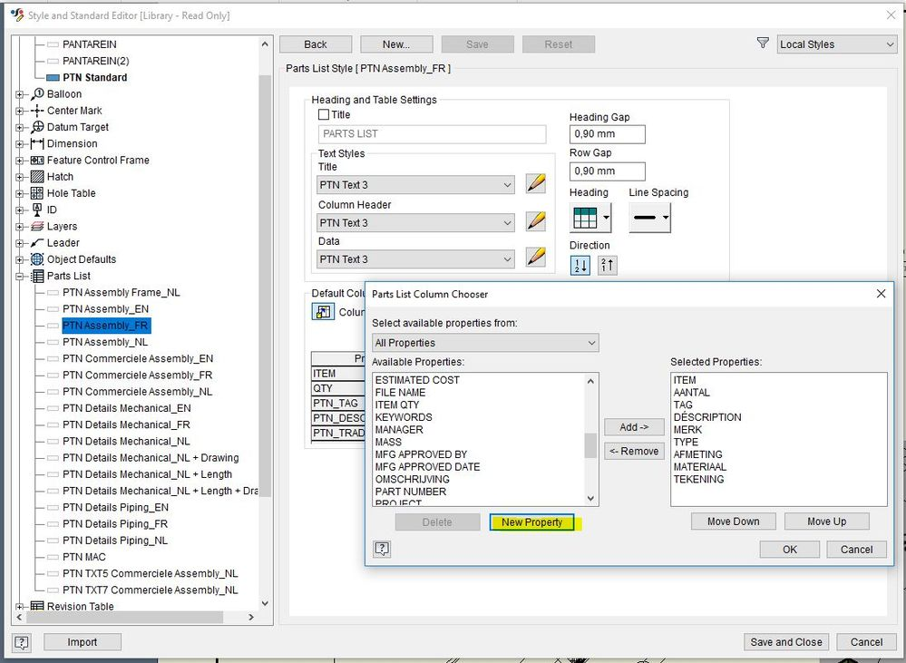 Solved: Call up part custom iproperty in assy parts list