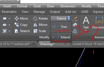 Solved: How can I separate the Trim/Extend icons so they are not on