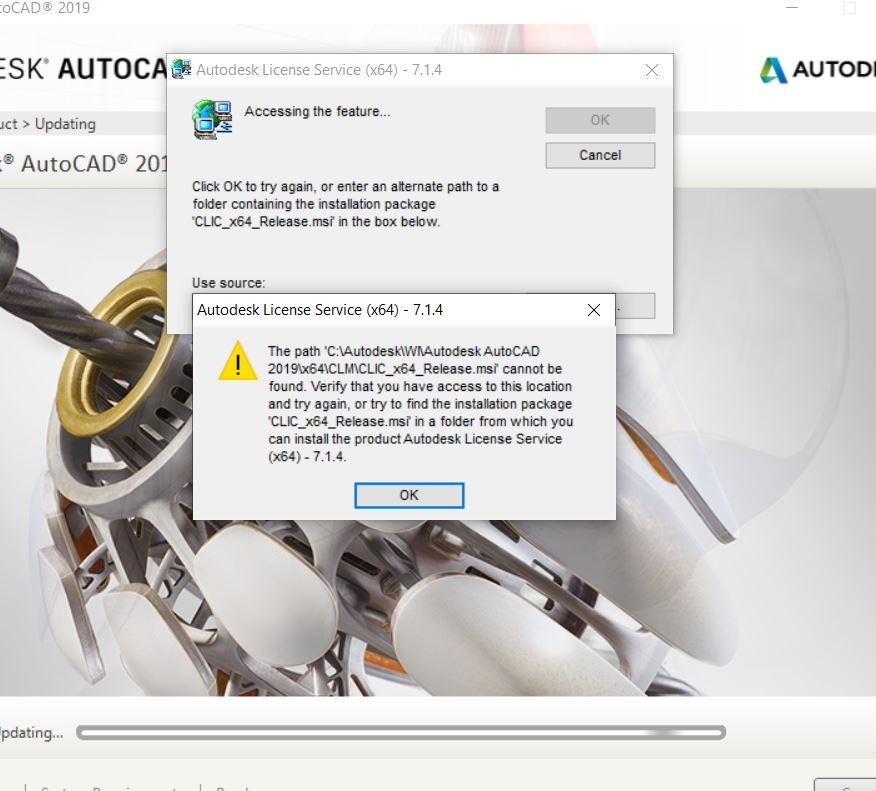 Licensing service installer msi