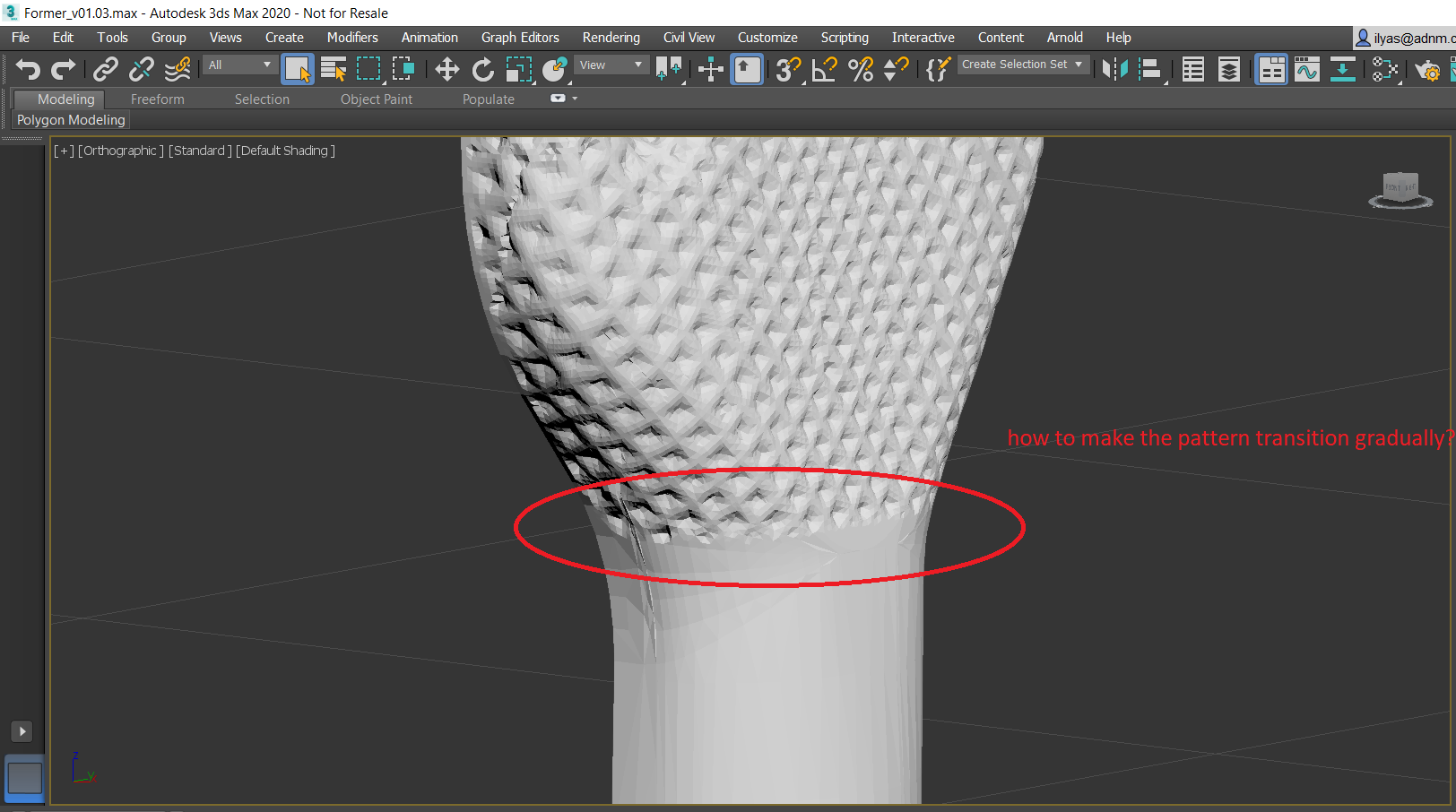 Smoothing out Displaced Mesh at Boundaries - Autodesk Community- 3ds Max