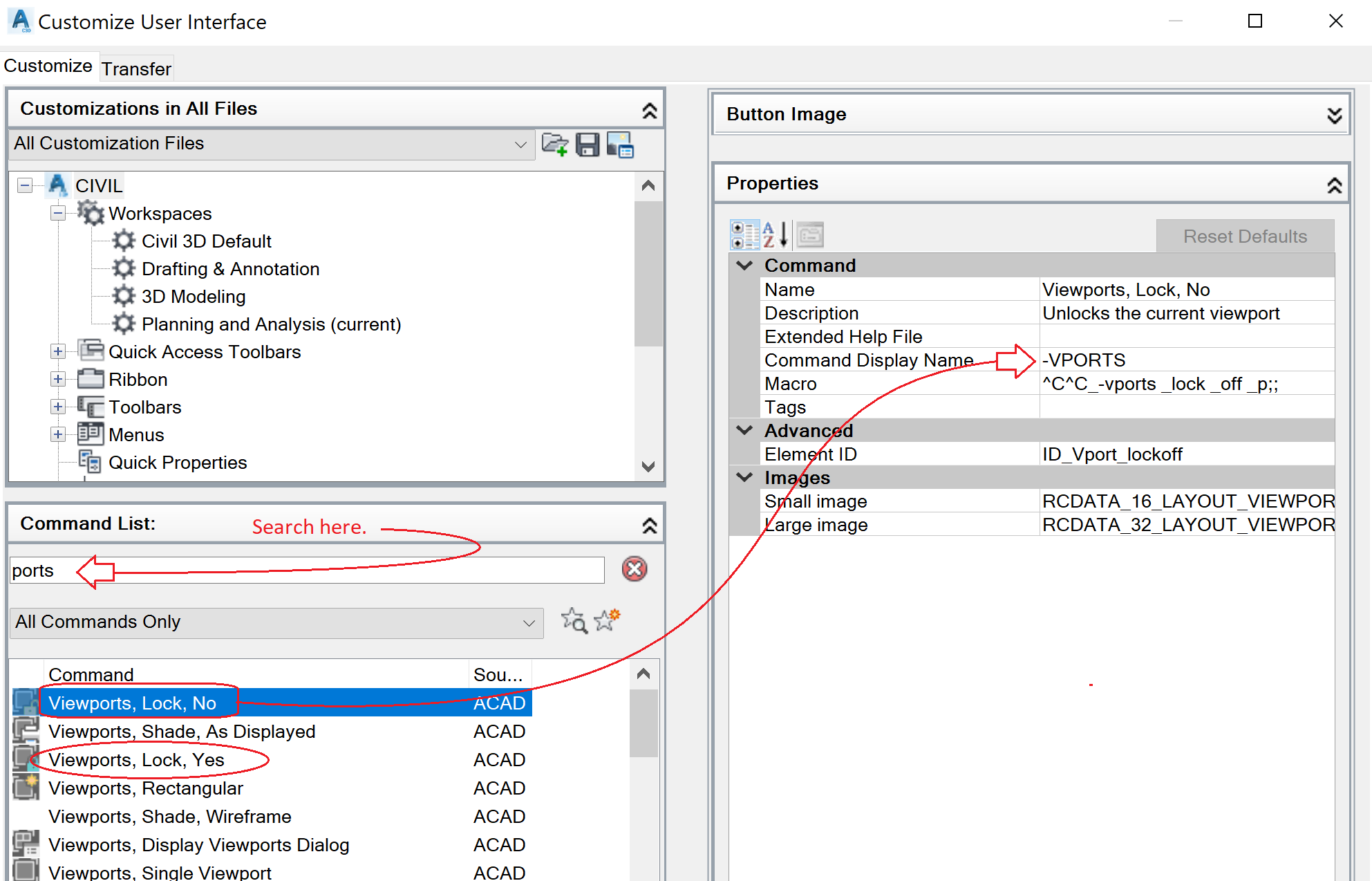 Viewports locked - keyboard shortcut - Autodesk Community- AutoCAD