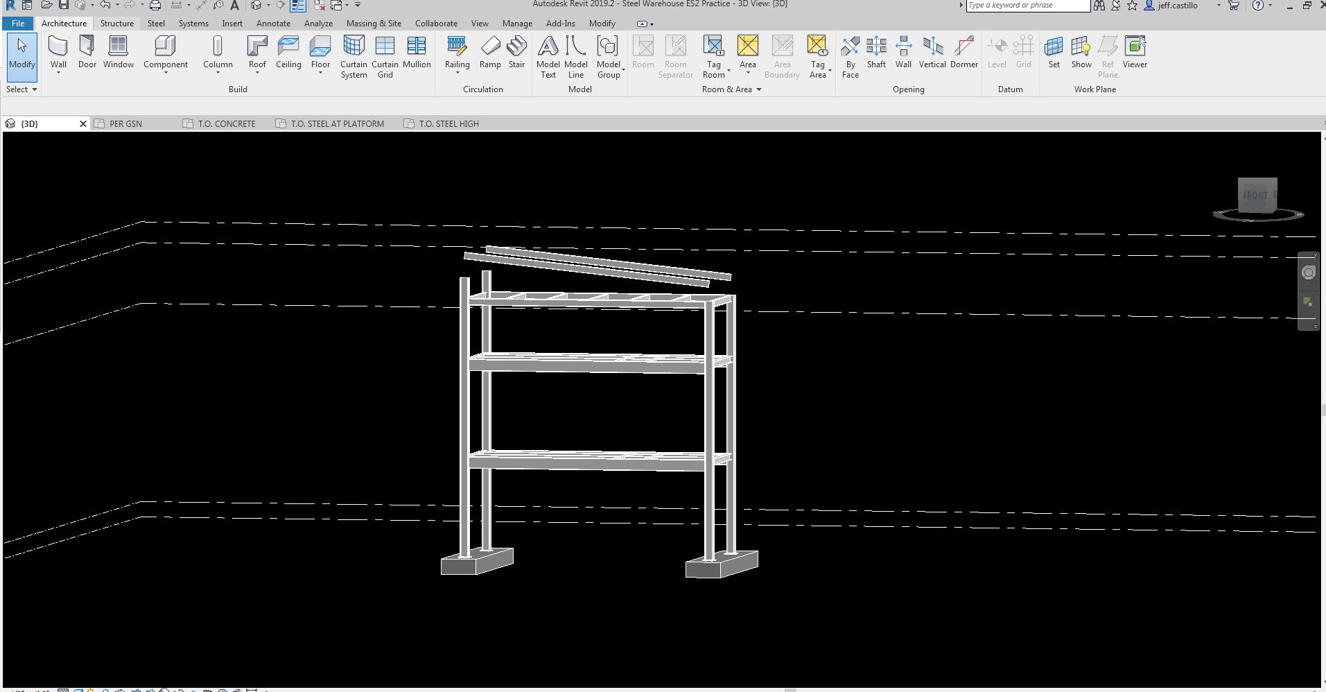 Galvanized Steel Grating & Top Level going passed in constraints