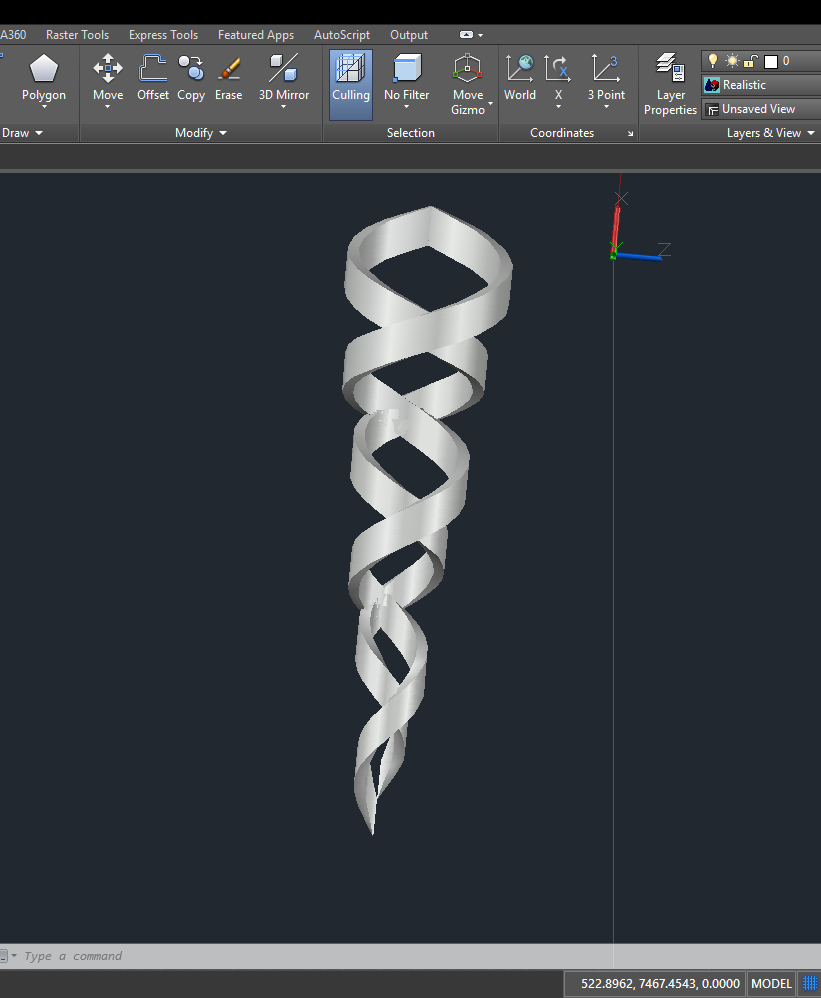 Trying to wrap a rectangle around a compound helix