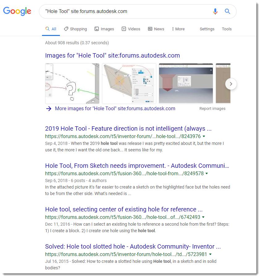 Search modifiers don't work  - Autodesk Community- Community